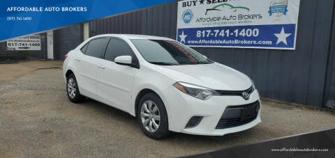 2015 Toyota Corolla for sale at AFFORDABLE AUTO BROKERS in Keller TX