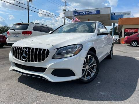 2015 Mercedes-Benz C-Class for sale at LATINOS MOTOR OF ORLANDO in Orlando FL