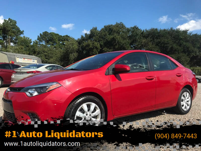 2015 Toyota Corolla for sale at #1 Auto Liquidators in Yulee FL