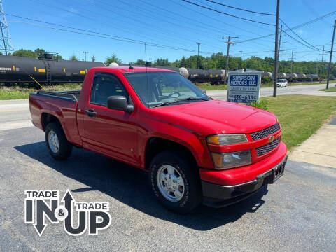 2008 Chevrolet Colorado for sale at SIMPSON MOTORS in Youngstown OH