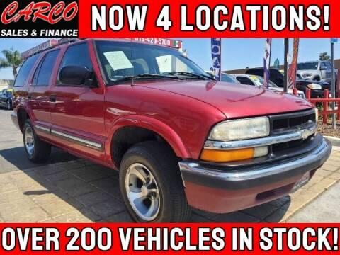 2001 Chevrolet Blazer for sale at CARCO SALES & FINANCE - Under 7000 in Chula Vista CA