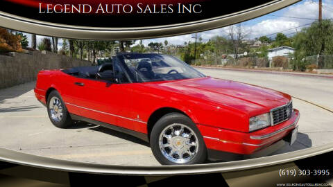 1991 Cadillac Allante for sale at Legend Auto Sales Inc in Lemon Grove CA