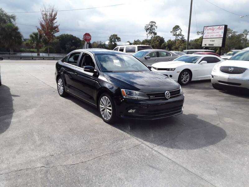 2016 Volkswagen Jetta for sale at FAMILY AUTO BROKERS in Longwood FL
