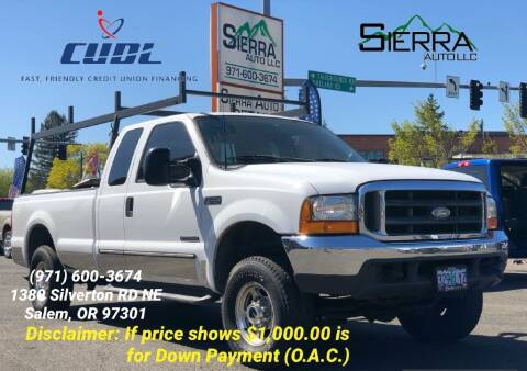 2000 Ford F-250 Super Duty for sale at SIERRA AUTO LLC in Salem OR