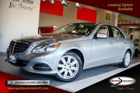 2014 Mercedes-Benz E-Class for sale at Quality Auto Center in Springfield NJ