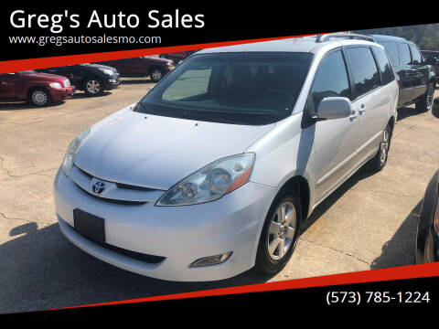 2006 Toyota Sienna for sale at Greg's Auto Sales in Poplar Bluff MO