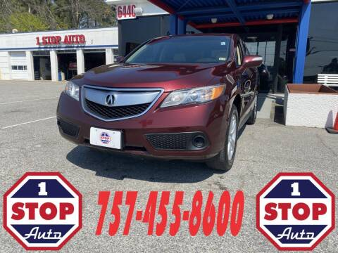 2015 Acura RDX for sale at 1 Stop Auto in Norfolk VA