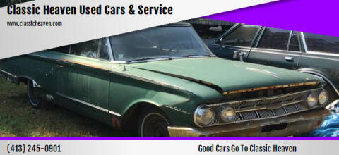 1963 Mercury Monterey for sale at Classic Heaven Used Cars & Service in Brimfield MA