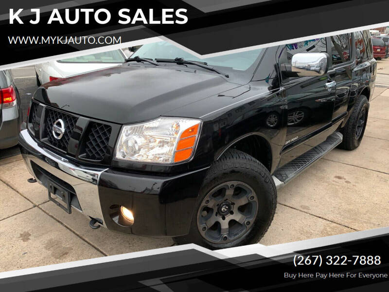2004 Nissan Armada for sale at K J AUTO SALES in Philadelphia PA