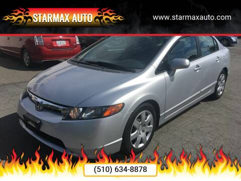 2007 Honda Civic for sale at StarMax Auto in Fremont CA