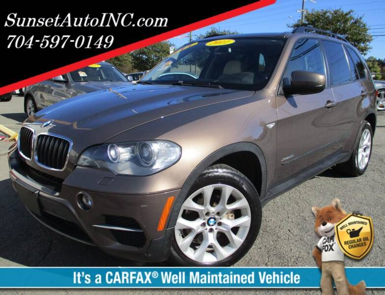 2011 BMW X5 for sale at Sunset Auto in Charlotte NC