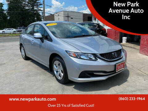 2013 Honda Civic for sale at New Park Avenue Auto Inc in Hartford CT