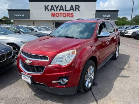 2015 Chevrolet Equinox for sale at KAYALAR MOTORS in Houston TX