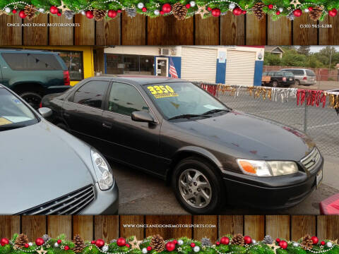 2001 Toyota Camry for sale at Once and Done Motorsports in Chico CA
