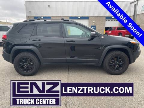 2017 Jeep Cherokee for sale at LENZ TRUCK CENTER in Fond Du Lac WI