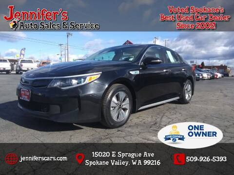2017 Kia Optima Hybrid for sale at Jennifer's Auto Sales in Spokane Valley WA