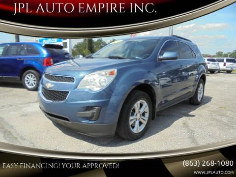 2012 Chevrolet Equinox for sale at JPL AUTO EMPIRE INC. in Auburndale FL