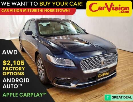 2017 Lincoln Continental for sale at Car Vision Mitsubishi Norristown in Trooper PA