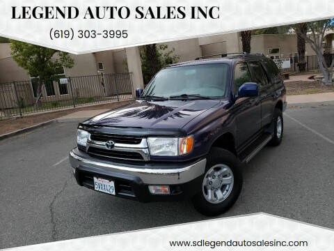 2002 Toyota 4Runner for sale at Legend Auto Sales Inc in Lemon Grove CA