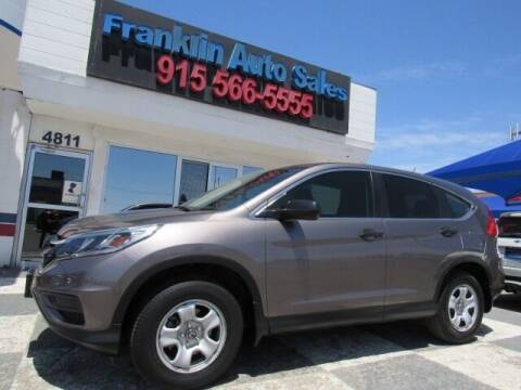 2015 Honda CR-V for sale at Franklin Auto Sales in El Paso TX