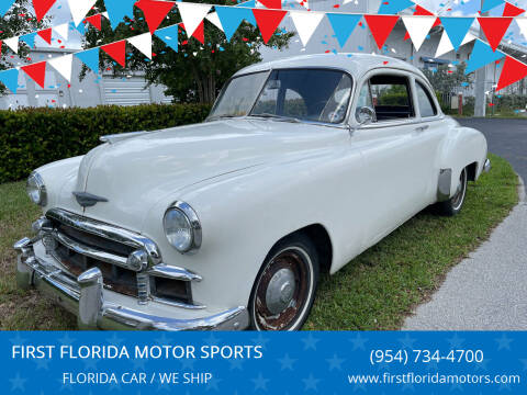 1950 Chevrolet Deluxe Coupe for sale at FIRST FLORIDA MOTOR SPORTS in Pompano Beach FL