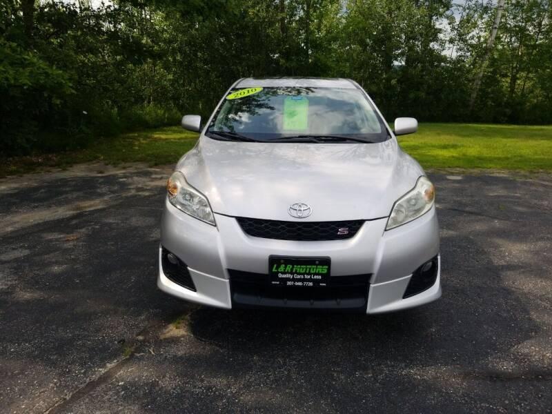 2010 Toyota Matrix for sale at L & R Motors in Greene ME
