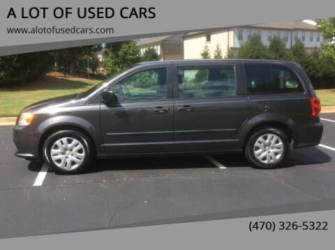 2015 Dodge Grand Caravan for sale at A LOT OF USED CARS in Suwanee GA