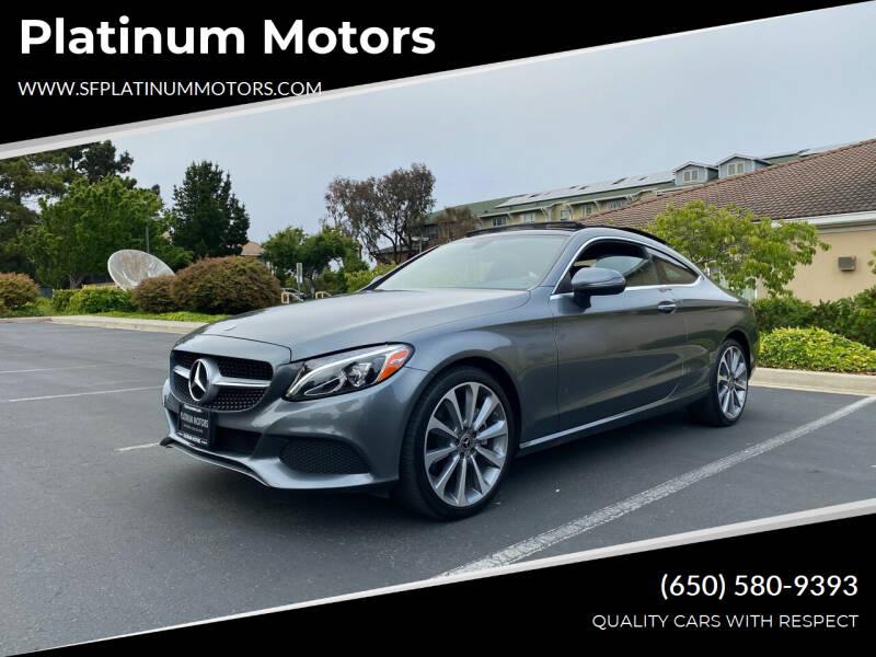 2018 Mercedes-Benz C-Class for sale at Platinum Motors in San Bruno CA