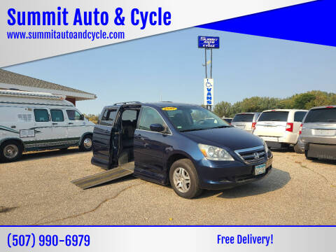 2007 Honda Odyssey for sale at Summit Auto & Cycle in Zumbrota MN