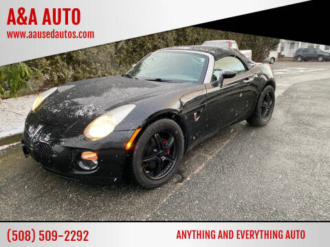 2009 Pontiac Solstice for sale at A&A AUTO in Fairhaven MA