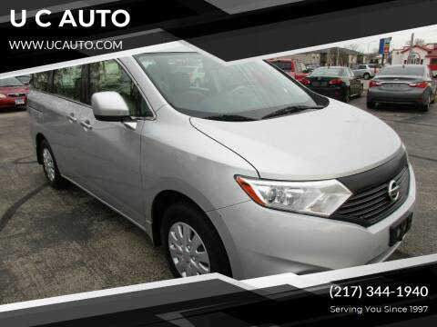 2014 Nissan Quest for sale at U C AUTO in Urbana IL