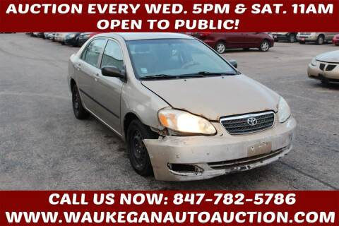2005 Toyota Corolla for sale at Waukegan Auto Auction in Waukegan IL