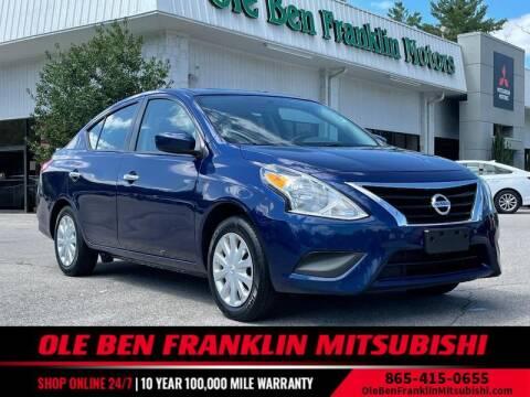 2019 Nissan Versa for sale at Ole Ben Franklin Mitsbishi in Oak Ridge TN
