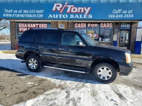 2002 Cadillac Escalade for sale at R Tony Auto Sales in Clinton Township MI