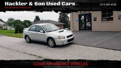 2004 Subaru Impreza for sale at Hackler & Son Used Cars in Red Lion PA