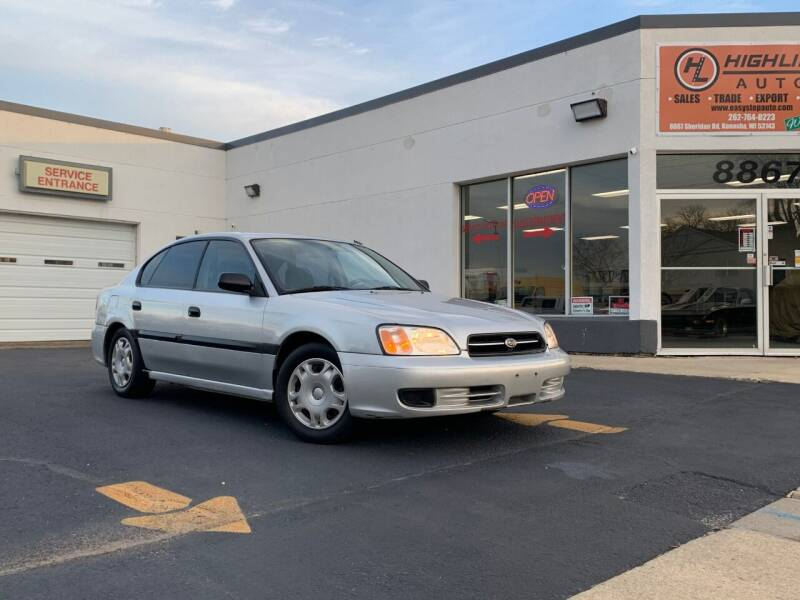 2002 Subaru Legacy for sale at HIGHLINE AUTO LLC in Kenosha WI