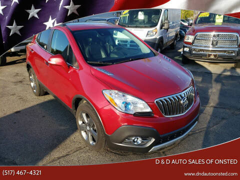 2014 Buick Encore for sale at D & D Auto Sales Of Onsted in Onsted   Brooklyn MI
