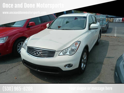 2008 Infiniti EX35 for sale at Once and Done Motorsports in Chico CA