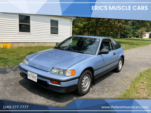 1989 Honda Civic CRX for sale at Erics Muscle Cars in Clarksburg MD