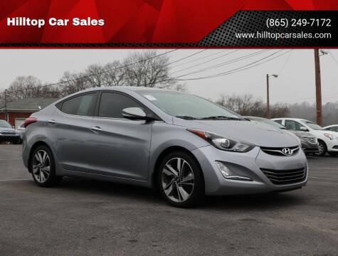 2016 Hyundai Elantra for sale at Hilltop Car Sales in Knox TN