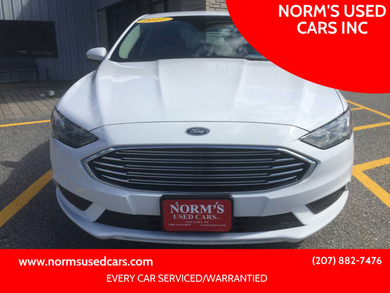 2017 Ford Fusion for sale at NORM'S USED CARS INC in Wiscasset ME