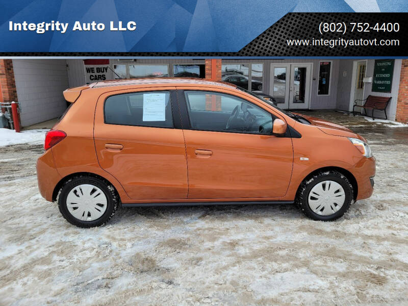 2017 Mitsubishi Mirage for sale at Integrity Auto LLC - Integrity Auto 2.0 in St. Albans VT