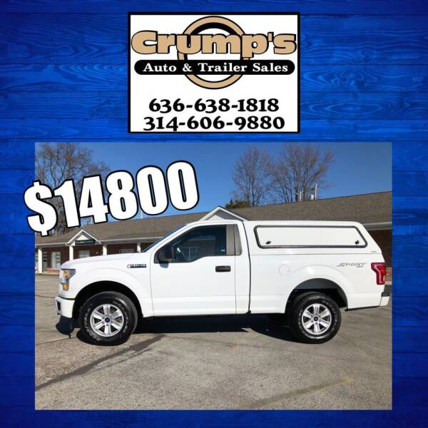 2017 Ford F-150 for sale at CRUMP'S AUTO & TRAILER SALES in Crystal City MO