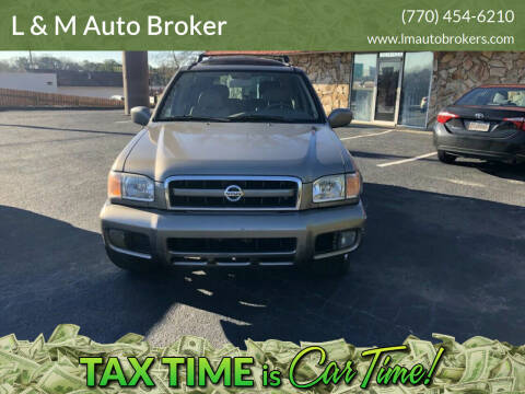 2002 Nissan Pathfinder for sale at L & M Auto Broker in Stone Mountain GA