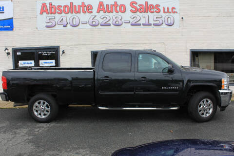 2012 Chevrolet Silverado 2500HD for sale at Absolute Auto Sales in Fredericksburg VA