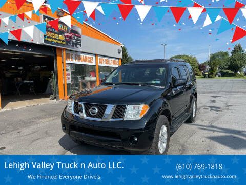 2006 Nissan Pathfinder for sale at Lehigh Valley Truck n Auto LLC. in Schnecksville PA