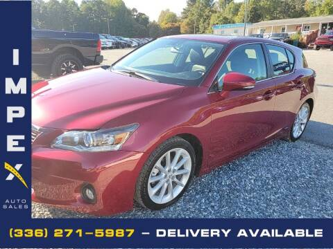 2013 Lexus CT 200h for sale at Impex Auto Sales in Greensboro NC
