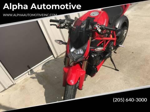 2013 Ducati Streatfighter for sale at Alpha Automotive in Odenville AL