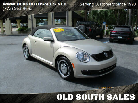2015 Volkswagen Beetle Convertible for sale at OLD SOUTH SALES in Vero Beach FL
