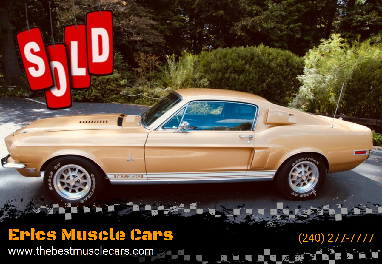1968 Shelby GT350 SOLD SOLD SOLD